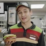 ハンバーガー屋店員